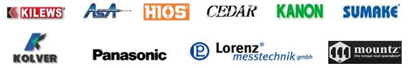 Kilews, ASA, Hios, Cedar, Kanon, Sumake, Kolver, Panasonic, Lorenz, Mountz