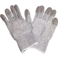 ESD cut resistance glove with PU fingertip